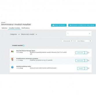 Disattivazione automatica prodotto esaurito - PrestaShop